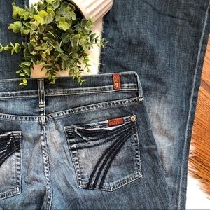 7 For All Mankind   Dojo Blue Jeans Size 28